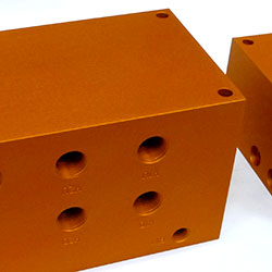 orange colour anodising of aluminium