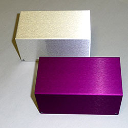 violet colour anodising of aluminium
